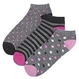 REDTAG Ladies Cotton Rich Trainer Liner Socks 4-8