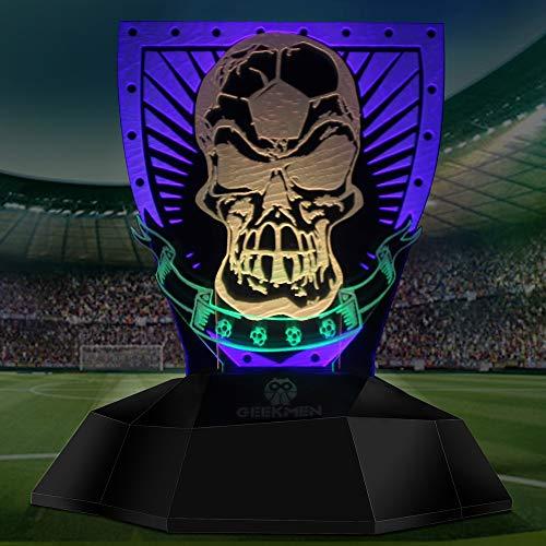 ZSSM 3D Nachtlicht Touch Base Dimmen USB wiederaufladbare sichere energiesparende Projektion Stereo Lampe Fußball Shantou 3D Film modernes Dekor LED Illusion Lampe