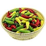 Gresorth 60 Stück Künstliche Lebensechte Mini Pfeffer Chili Deko Gefälschte