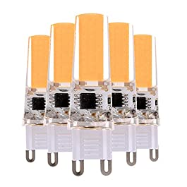 EKINHUI LED Dimmable 3W G9 2508 COB 200-300 Lm CA 220-240 V / AC 110-130 V Blanco caliente de la luz blanca fresca de la decoración (5PCS) ( Color : Warm White , Size : 220-240V )