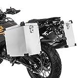 Motorrad Alukoffer Set für Suzuki Burgman 125/200/ 250 Namib 40l und 35l mit Adapter für 18mm Kofferträger