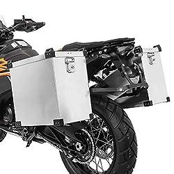 Alukoffer Set 41l + Haltesatz 18mm für Honda Varadero XL 1000 V/125, VFR 750 R
