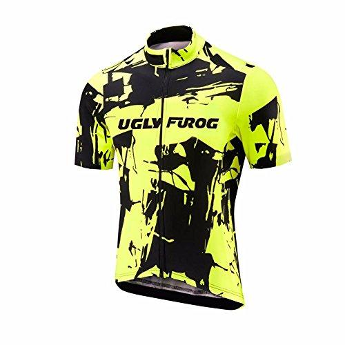 Uglyfrog Maillot Ciclismo para Hombre Manga Corta Jersey MTB Camiseta Bici Carretera Cómodo Transpirable DXMZ02
