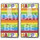 Mouchoirs 20 (2 x 10) colourful day coloré/jour/happy be happy day/motivtaschentücher
