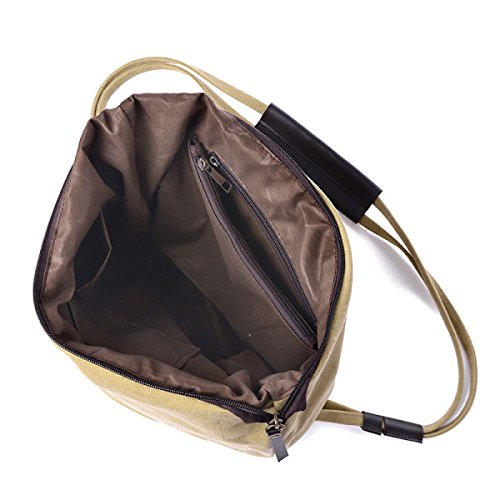 FZHLY Versione Coreana Canvas Shoulder Bag Pacchetto Di Grandi Dimensioni Casuale,Brown Rose