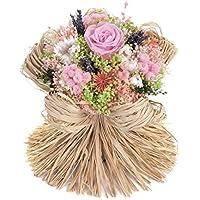Bouquet Raffia-Sanremo flores secas de la Riviera dei Fiori Italia con rosa estabilizada (Rosa)
