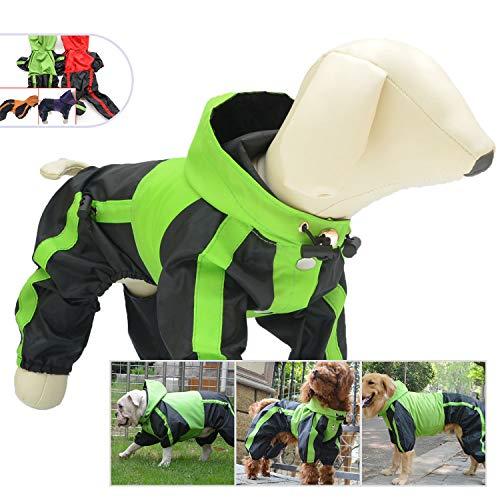 Pet Bekleidung Hund Kleidung Kleidung Regen Schnee Coats Wasserdichter Regenmantel für kleine medium Large für große Hunde Adorable Hoodie Kostüme, S, grün