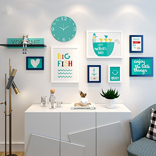 SXFR ZN Foto Wand Dekoration Ideen Kombiniert Siamesische Persönlichkeit  Wohnzimmer Foto Schlafzimmer Bilderrahmen Wand (Farbe : B)
