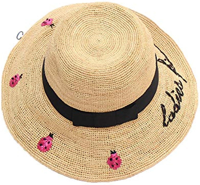 Cappello da spiaggia Cappellino da viaggio da floppy donna floppy da da  spiaggia con cappello ricamato da beetle 679d735f11c7