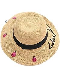 Sombrero de paja Sombrero de sol de ala grande Mujeres Floppy Beach  Sombreros de Viaje Con 24010c8c886