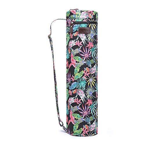 Fremous Yoga Mat Bag and Carriers for Women and Men - Bolsillos de Almacenamiento Multifunción Portátiles de Lona Yoga Bolsas, Pineapple