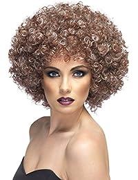 Smiffys  -  SM42037  -  Perruque Afro Brune Effet Naturel -  Taille Unique