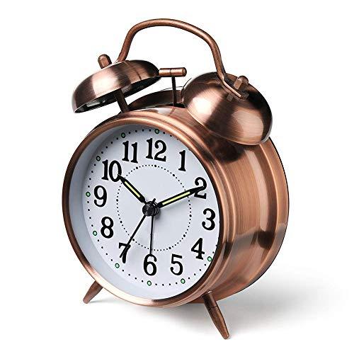 Reloj Despertador Doble Campana luz Nocturna Despertador