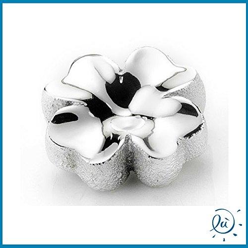 Quadrifoglio portafortuna resina argentata| oggettistica (senza scatola) | bomboniere matrimonio nascita battesimo comunione originali moderne e utili sposi e accessori bomboniere economiche fai da te