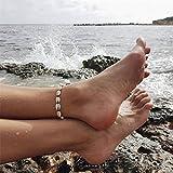 Ellepigy Muscheln Böhmen Stil Frauen Fußschmuck Barfuß Strand Fußkette Knöchel Armband