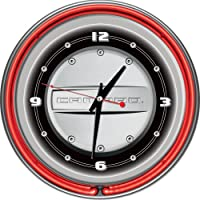 Chevrolet Camaro Chrome Double Ring Neon Clock, 14 by Trademark Gameroom