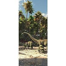 Fototapete Dinosaurier Strand Palmen Animation liwwing no 447