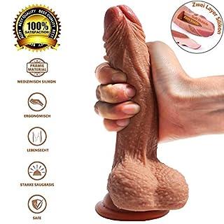 Zwei Layer Silikon Dildo 7 inch Firm Inside Soft Outside Penis Sexspielzeug für Frauen Fancy Lover