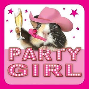 Meerschweinchen Karte - Geburtstagskarte - PARTY GIRL