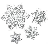 Demiawaking - Stencil con motivo a renna di Natale, per creare albi di ritagli, cartoncini sagomati, diari e progetti creativi manuali fai da te, Acciaio al carbonio, Christmas Snowflake, Christmas Deer