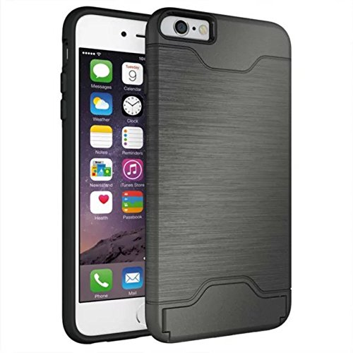 iPhone 6 plus Etui 2016,Valenth Tough Dual Layer 2 in 1 Rugged Rubber Hybrid Hard/Soft Drop Impact Resistant Protective Cover with Kickstand for iPhone 6 plus color 3