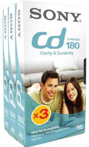 Sony Video Tape Kassette VHS 3Stunden Ref 3E180VBASIC [Pack 3]