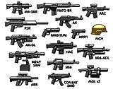 Custom BrickArms V6 Modernes Waffen Set mit 21 Waffen und Zubehör für LEGO® Figuren