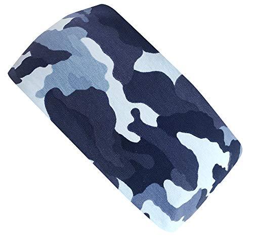 Wollhuhn Öko Jungen Camouflage Cooles Elastisches Stirnband Blau 20180923 - Camouflage Stirnband