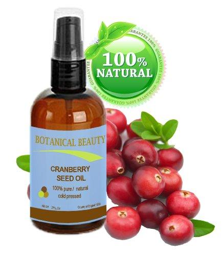 Canneberges huile de pépins de 100% Pure / Naturel. Pressée à froid / non dilué. Visage, corps et cheveux- 60 ml.