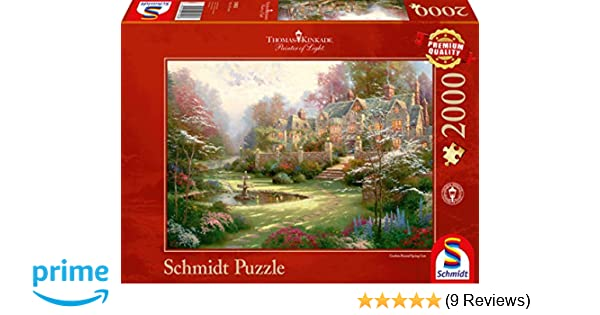 Painter of Light Puzzle 2000 Teile Gardens Beyond Spring Gate Thomas Kinkade Puzzles