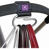 Think King Jumbo Swirly Hook for Strollers/Walkers, Brushed Aluminum/Black, Model: 1004, Newborn & Baby Supply
