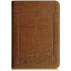 Fintie Étui pour Kindle Paperwhite - Folio Case Cover Protection étui Housse Fermeture magnétique (Non Compatible avec Le 10ème génération, modèle 2018), Vintage Braun