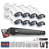 ANNKE 16CH 1080P POE NVR Überwachungssystem, Netzwerk Video Recorder + 8*1080P IP Überwachungsskameras mit 1TB Überwachung Festplatte, POE Plug und Play, Bewegungserkennung mit E-Mail Alarm