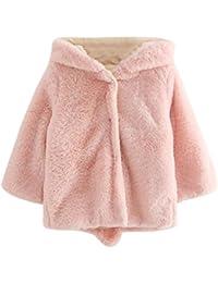 Logobeing Abrigo niña 4-7años Abrigo con Capucha Capa Chaqueta Gruesa Ropa de Abrigo