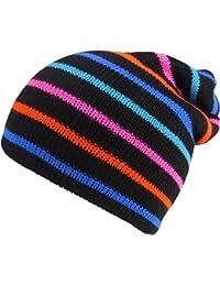 BRUBAKER Unisex Winter Beanie Mütze Strick mit bunten Streifen