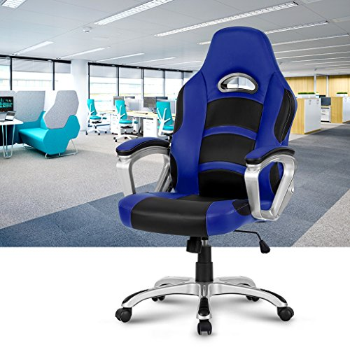 Langria racing style silla de oficina de cuero de la for Silla oficina racing