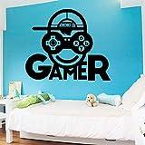 Gamer vinilo pegatinas de pared para sala de juegos decoración para niños habitación dormitorio etiqueta de la puerta de la escuela decoración mural extraíble cartel