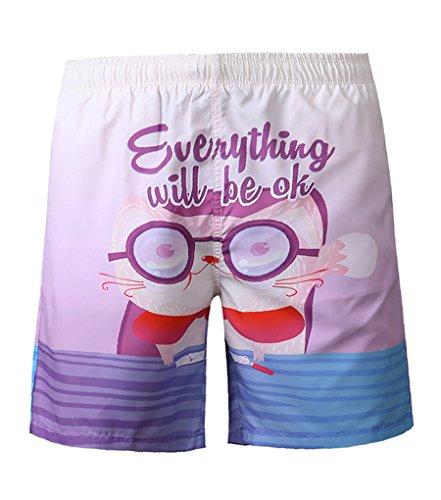 NiSeng Hommes Impression Boardshorts Casual Casual Shorts De Plage Maillot De Bain Surf Shorts 2#01