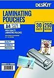 Best Laminating Pouches - DESKIT 30 A4 Size Laminating Pouches 250 Micron Review