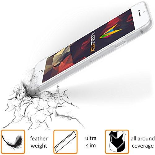 Mobilefox Eigenes Foto transparente Silikon TPU Schutzhülle 0,7mm dünne Handy Soft Case für Apple iPhone 7 individuelles Motiv - Clear Cover Gel Hülle Liquid Weiß Blau