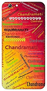 Chandramati (As Beautiful as the Moon) Name & Sign Printed All over customize & Personalized!! Protective back cover for your Smart Phone : One Plus Three ( 1+3 )
