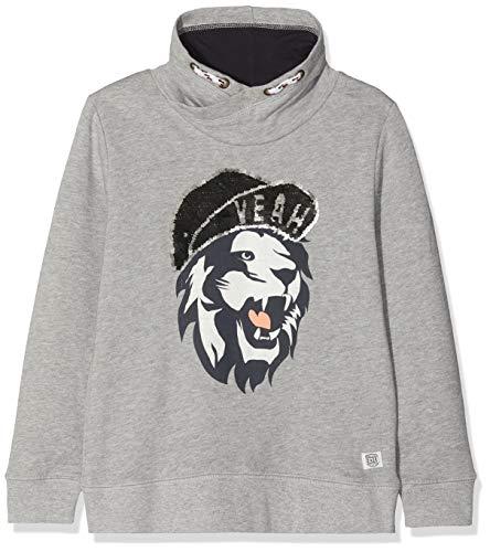 TOM TAILOR Kids Jungen Sweatshirt 1/1, Grau (Drizzle Melange|Gray 8438), 128/134