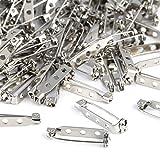 Kesote 200 Stück Broschennadeln Sicherheitsnadeln für Schmuck Handwerk, 25mm