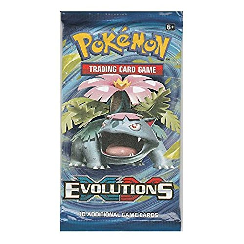 "Image of Pokemon XY12 ""Evolutions"" Booster Pack: 10 Additional Cards for Pokemon Trading Card Game (Random, English Language)"
