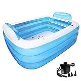 Riesige Faltende Aufblasbare Badewanne Für Zwei Leute-Erwachsene Badekurort-Freie Stehende Bequeme
