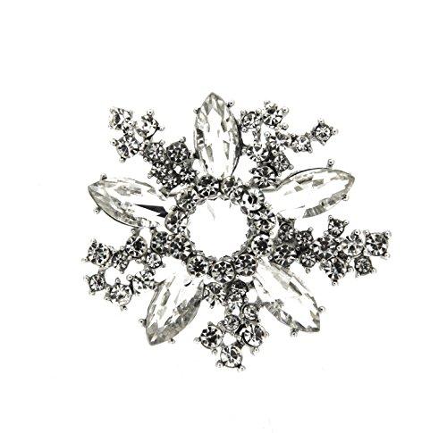 sweet deluxe 5830 Damen Brosche Ansa, silber/crystal