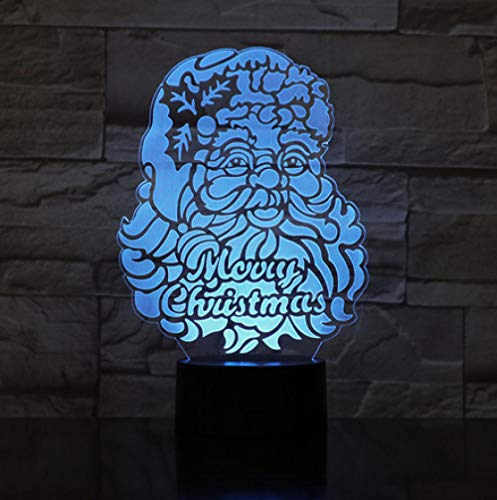 Joplc Weihnachtsmann 3d lampe weihnachten led nachtlicht dekor tischlampe kreative handwerk kinder geschenke