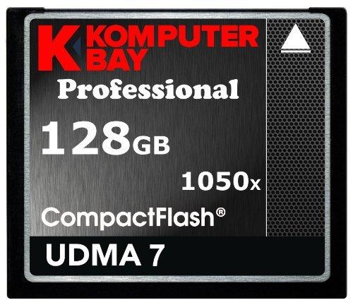 Komputerbay J8 128GB Professionelle COMPACT FLASH CARD CF 1050x WRITE 100MB/s lesen 160MB/s Extreme Speed UDMA 7 RAW 128 GB