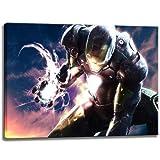 Ironman Motiv auf Leinwand im Format: 100x70 cm. Hochwertiger Kunstdruck als Wandbild. Billiger als ein Ölbild! ACHTUNG KEIN Poster oder Plakat!
