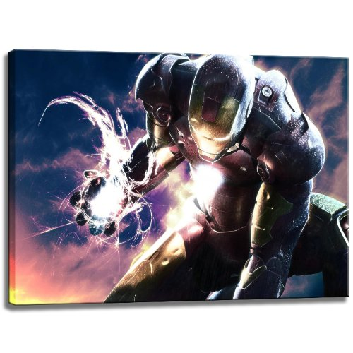 ironman-picture-on-canvas-format-394-x-276-high-quality-art-print-as-a-mural-cheaper-than-an-oil-pai